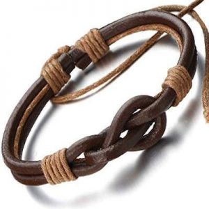 Dark Brown Friendship Leather Bracelet_$20USD