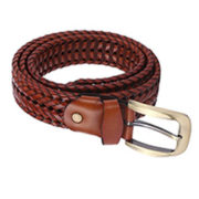 Men's Vintage Leather Braided Belt