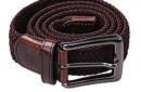 Mens Stretchy Belt With Leather Buckle